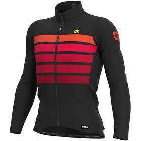 Alé Cycling PRR Sombra Wool Thermo Maglia a Maniche Lunghe Uomo, nero/rosso